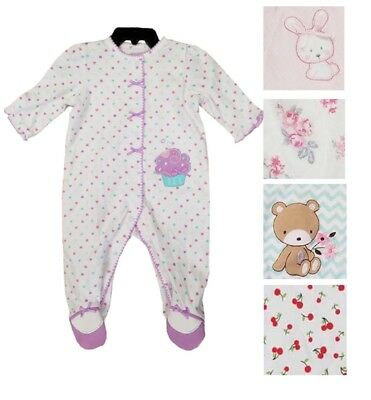 Girl Design Snap - Little Me Girls 1 Piece Snap Button Sleeper Various Designs