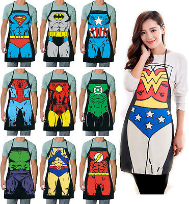 Marvel Super Hero Cooking Apron Funny Cosplay Costume Men Women BBQ Party Sexy](Super Hero Costumes For Men)