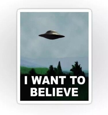 X Files I Want To Believe Moulder Skully Ufo Sticker Decal Car Laptop Scrapbook