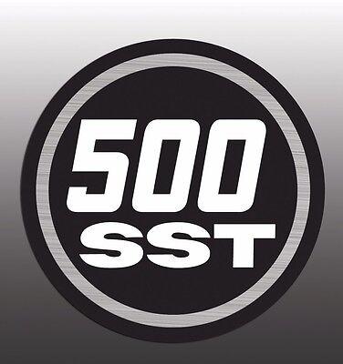 MASSEY FERGUSON SKI WHIZ EMBLEM DECAL 500SST 500 SST BADGE DECAL GRAPHIC