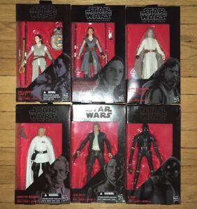 "Star Wars Black Series 6"" inc BB-8, Rey, Luke, Han Solo, K-2S0"