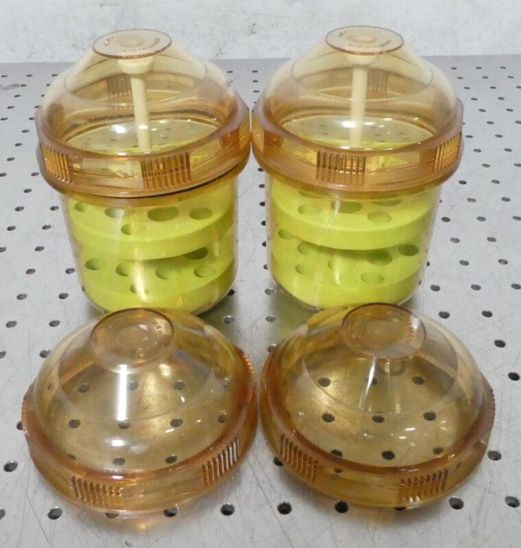 R174888 (2) Beckman Centrifuge Bucket Inserts w/ 2 Extra Lids