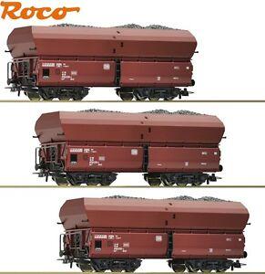 Roco H0 51268-S Erzwagen-Set Fad mit Kohleeinsatz der DB