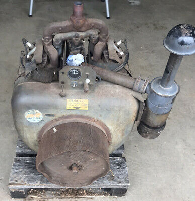 Ve4 Wisconsin Stationary Engine Nice Complete Orginal