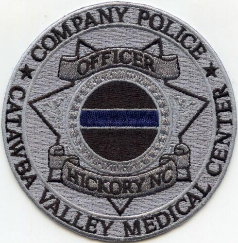 CATAWBA VALLEY HOSPITAL NORTH CAROLINA NC gray background COMPANY POLICE PATCH