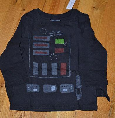 NWT Baby Gap Toddler Boy Star Wars Darth Vader Long Sleeve Shirt & Cape 2T 3T 4T