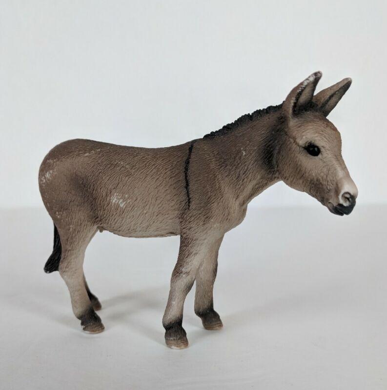 2008 Schleich Donkey Jenny Female Retired Figure #13268 Farm Animal Nativity toy