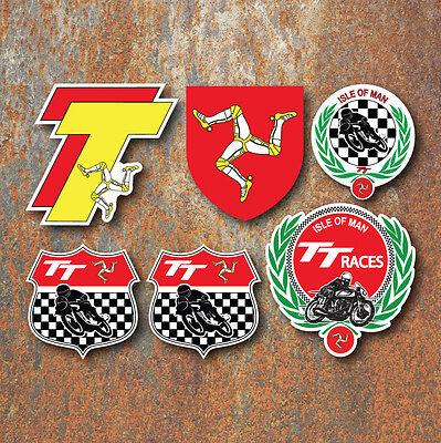 ISLE OF MAN TT Sticker Set Manx Moto GP Classic Motorbike Motorsport decals