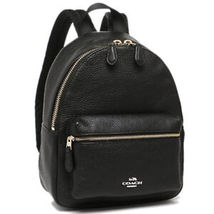 993cbc1681 Coach F38263 Mini Charlie Backpack in Pebble Leather Black for sale ...