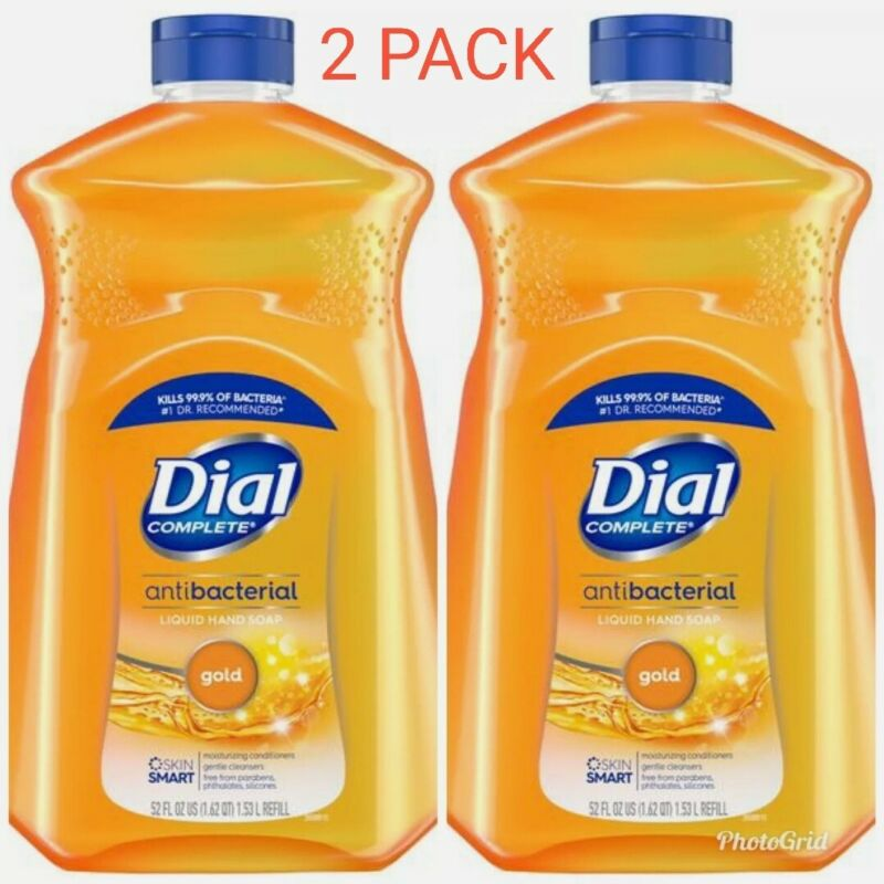 2 Dial Complete Gold Antibact Liquid Hand Soap Refill 52oz x2 - Free Shipping!