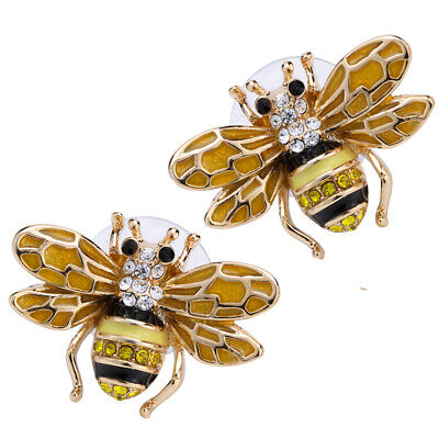 Honey Bee Stud Earrings Cute Fashion Jewelry Gifts for Women Mom Her Golden