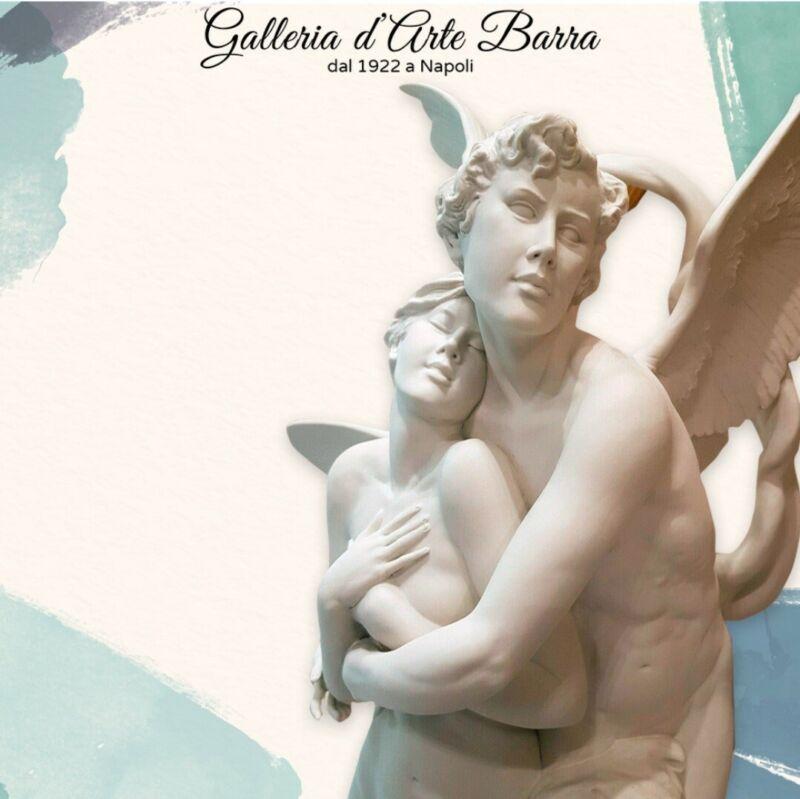 Porcelain Of Capodimonte.amore Psiche.abbraccio Eternal Version White, Biscuit