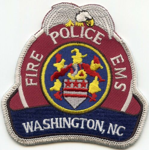 WASHINGTON NORTH CAROLINA NC EMS FIRE POLICE PATCH