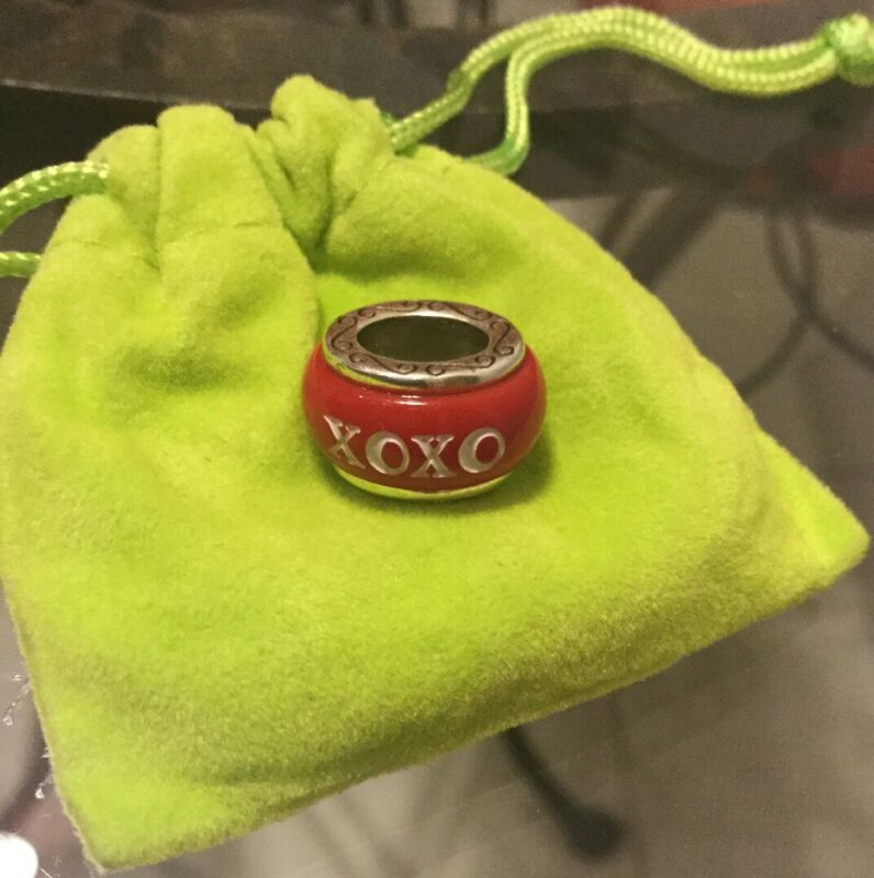 "Authentic Brighton Charm  ""XOXO""RED/WHITE New Without Tags"