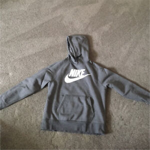 Nike men's large hoodie grey