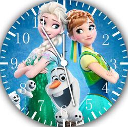 Disney Frozen Frameless Borderless Wall Clock For Gifts or Home Decor E56