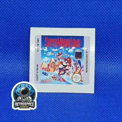 Gameboy Super Mario Land Ersatz Aufkleber Sticker Label Glänzend Glossy