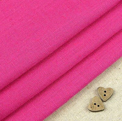 Robert Kaufman Essex, hot pink linen blend fabric / bag dressmaking cushion dark