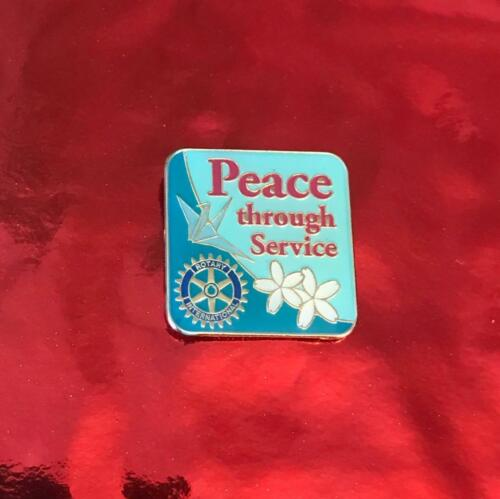 Rotary International Pin    PEACE THROUGH SERVICE     2012-13  THEME