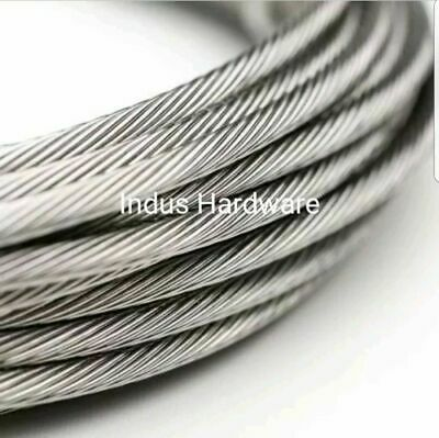 Stainless Steel T316l Cable Railing 532 1x19 Commercial Grade New Stock