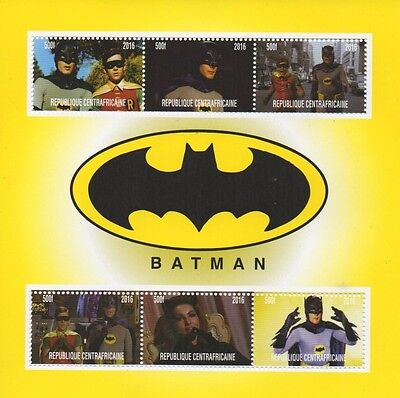 BATMAN ORIGINAL TV SHOW ADAM WEST CATWOMAN 2016 MNH STAMP SHEETLET
