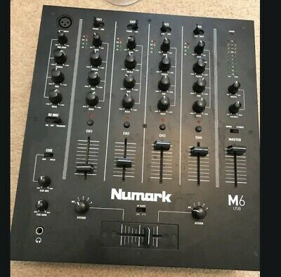 Numark M6 USB 4-Channel Pro DJ Mixer w/ USB Interface M6USB, Black PERFECT COND.