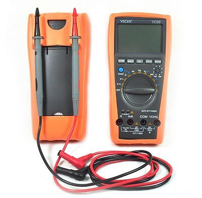 Brand New Vc99 3999 Auto Range Digital Multimeter Buzz Temp R C