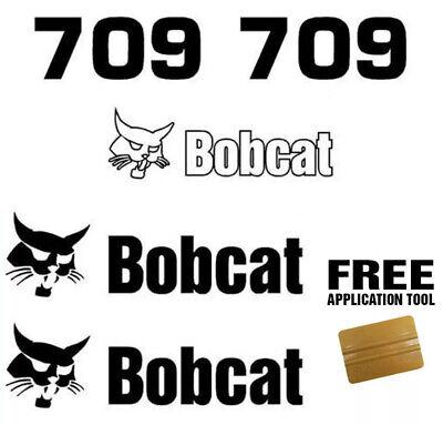 Bobcat 709 Backhoe Attachment Skid Steer Vinyl Decal Sticker Free Applicator