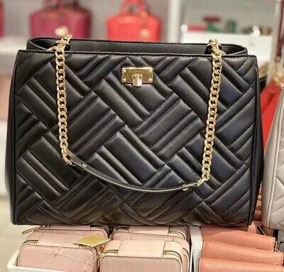 NWT Michael Kors Peyton Womens Large Leather Shoulder Tote Bag Handbag Purse BLK