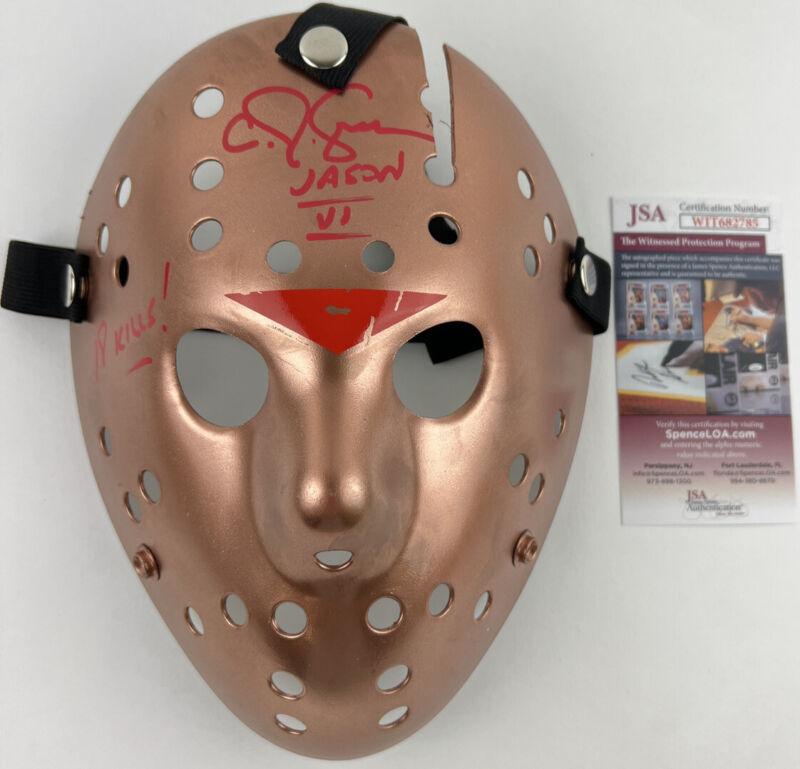 CJ GRAHAM signed JASON VOORHEES MASK Friday the 13th Part VI 6 Copper JSA