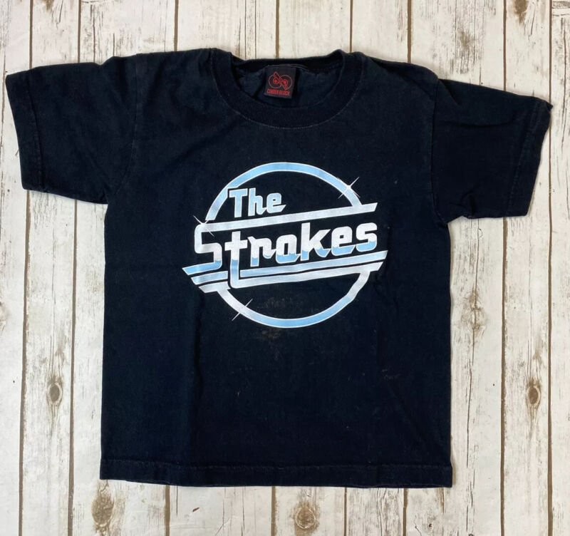 Cinder Block The Strokes Band Concert T Shirt No Size Tag -Youth Size- Plz Read