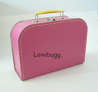 "Lovvbugg M Hot Pink Trunk Doll Suitcase for 18"" American Girl Doll Accessory"