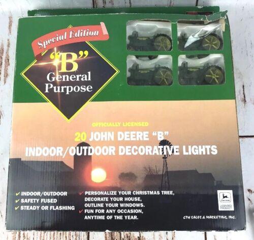 """John Deere """"B"""" Indoor Outdoor Special Edition Tractor Christmas String Lights"""