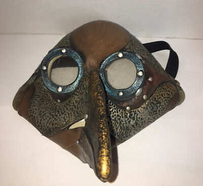 Dr. Peste Steampunk Adult Latex Mask Plague Cosplay Friendly Sci Fi Accessory