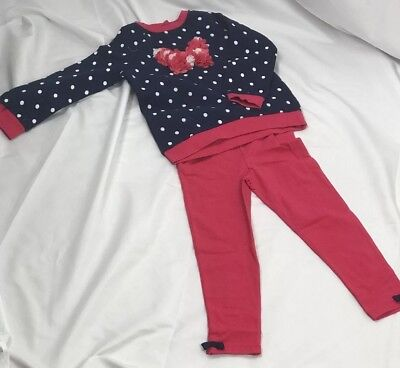 little me girls 2 pieces set sweatshirt with leggings Size 4T NWT