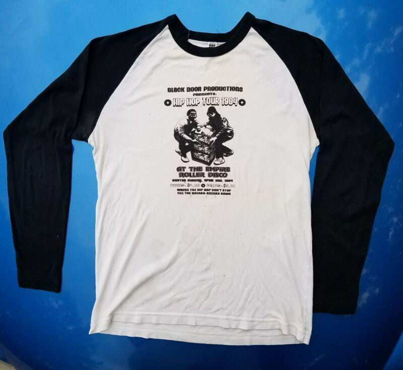 RARE RUN DMC HIP HOP TOUR 1984 Rap Long Sleeve T-Shirt Raglan Large Ultra Soft