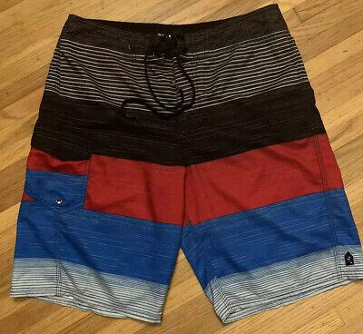 Rusty Mens Boardshorts Men Swimwear Trunks Shorts Size: 32 New w/o -