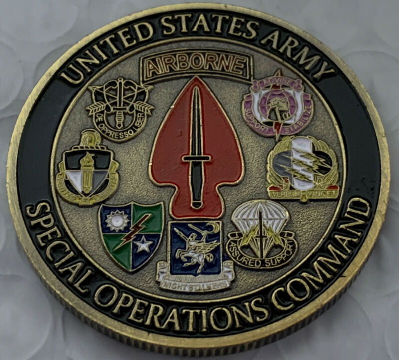 *U.S. Army Special Operations Command  Challenge Airborne Coin
