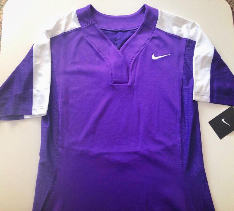 Nike Women's Dri-Fit Softball/Baseball Top S Purple