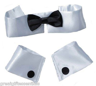 Bunny Costume For Men (COLLAR BOW TIE CUFF SET Costume Male Stripper Chippendale Playboy Bunny)