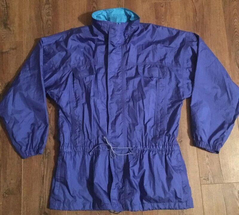 Vtg 80s 90s ASICS MFT Nylon Windbreaker Color Block Jacket Full-Zip w/Pockets