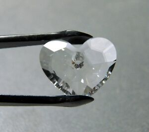 SWAROVSKI CRYSTAL CLEAR TRULY HEART 18mm CRYSTAL BEADS