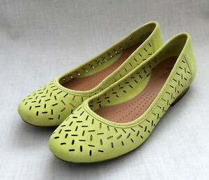 Clark's Active Air Henderson Silk Women's Lime Suede Shoes Size UK 5