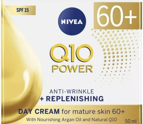 Nivea Q10 Power 60+ Anti-Wrinkle + Replenishing Day Cream Spf15 50ml