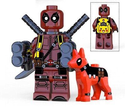 DEADPOOL POKÉMON WITH PUPPY CUSTOM MINIFIGURE PLAY WITH LEGOS USA SELLER