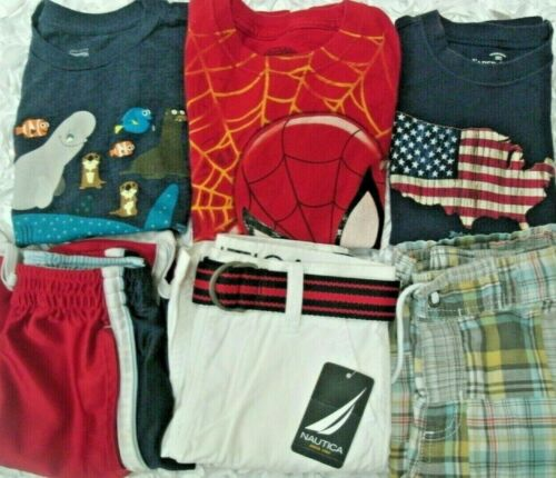 Boys Clothes Outfits lot Size 5T & 5-6 Gymboree Nautica Shirts Shorts FREE SHIP