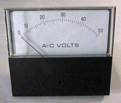 Yokogawa Yew 0-50 Ac Volts Voltmeter 4.5 Analog Panel Meter 251444ntnt