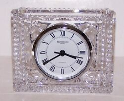 STUNNING VINTAGE SIGNED WATERFORD CRYSTAL LARGE 4 x 4 5/8 CLOCK