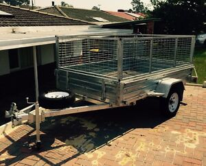 Custom built 8x5  caged trailer Lynwood Canning Area Preview