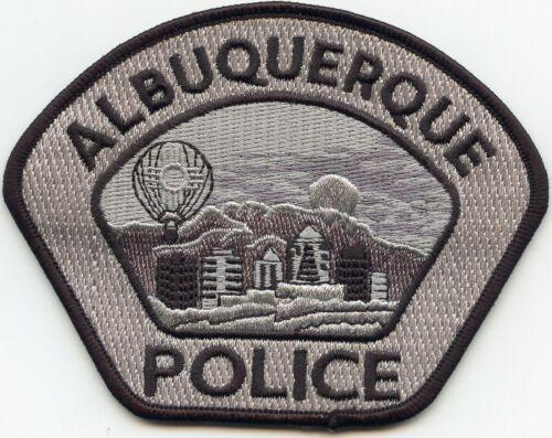 ALBUQUERQUE NEW MEXICO NM Black Border Gray Background POLICE PATCH